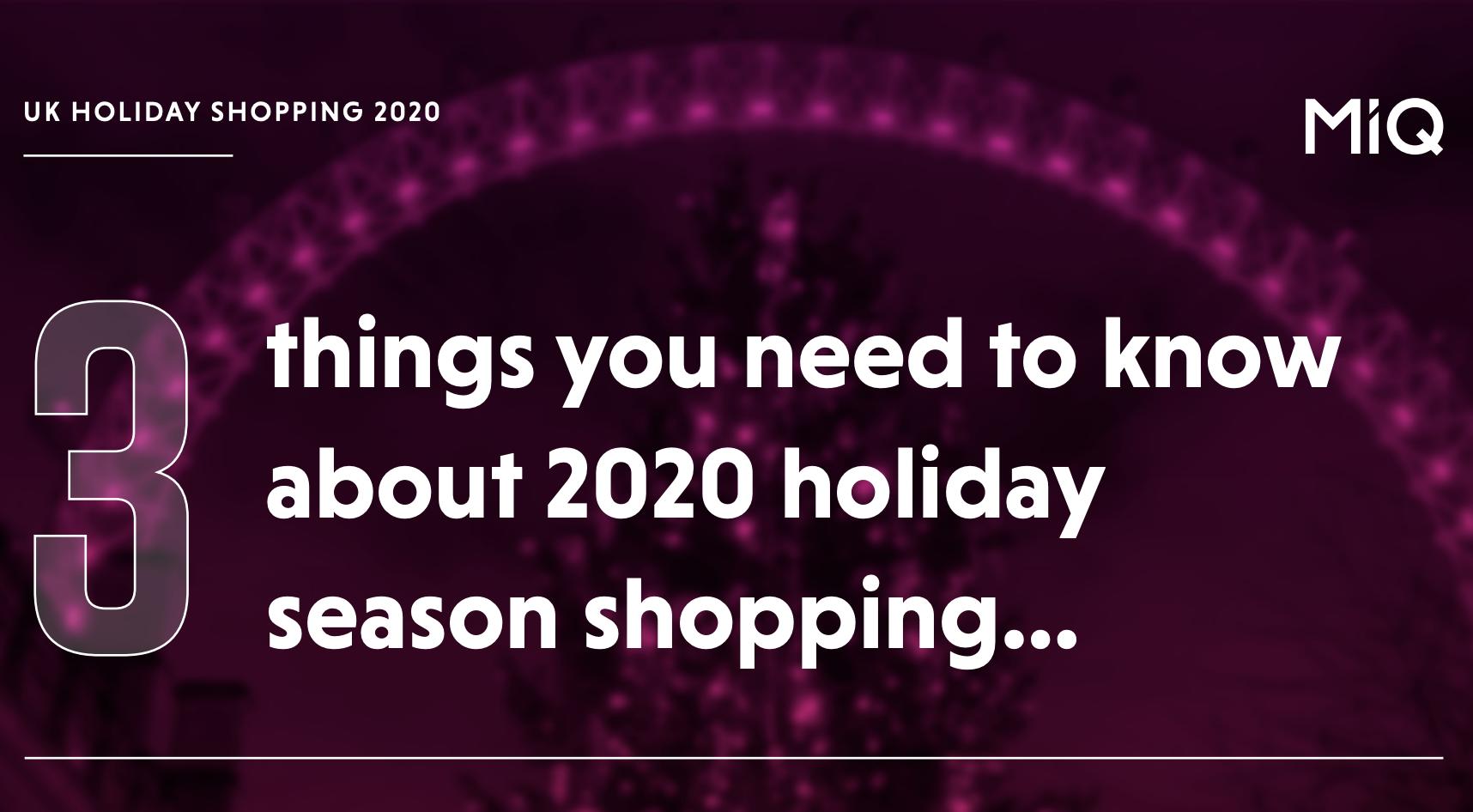 UK Holiday Shopping Website Banner